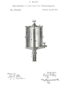 The first patent of Elijah McCoy, a turn-of-the-century Black Inventor