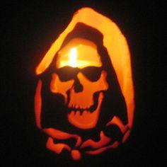 """""""Grim Reaper"""" Pumpkin Carving"""