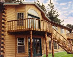 Log Home Photos | Log Home Exteriors > Western Red Cedar > Log Siding > Modulog Industries > Remodel
