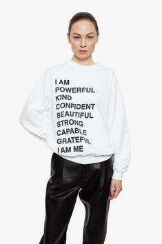 ANINE BING Ramona Sweatshirt Empowerment - White...