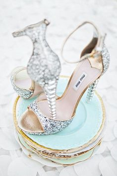 Shoe Love for Miu Miu These towering high heel sandals would be perfect for one's bridal ceremony! We are absolutely loving these stunning pieces of art. Miu Miu is known for their glitter pumps, and. Stilettos, High Heels, Crazy Shoes, Me Too Shoes, Dream Shoes, Bridal Shoes, Wedding Shoes, Wedding Gowns, Wedding Ceremony