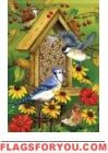 Songbird Feast Garden Flag