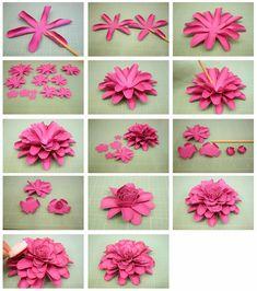 Bits of Paper: 3D Dahlia & Another Mum Paper Flower
