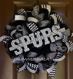 San Antonio Spurs Wreath by One Wreath At A Time