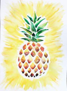 Watercolor / Pineapple…