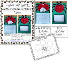 Top 5 Freebies of the Week from Primary Paradise- ladybug science or poem craftivity, addition game, syllable sort, land form mini book, irregular nouns game