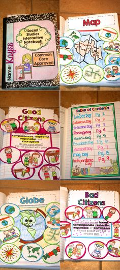 Social Studies Interactive Notebook Kindergarten https://www.teacherspayteachers.com/Product/Social-Studies-Interactive-Notebook-Kindergarten-1720371