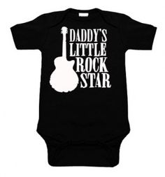 Daddy's Little Rock Star One Piece (black) from Punk Baby Clothes. Saved to Baby. My Baby Girl, Baby Love, Daddys Girl, Baby Baby, One Piece Bodysuit, Black Bodysuit, Black One Piece, Daddys Little, Little Rock
