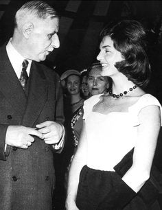 French President Charles de Gaulle and Jacqueline Kennedy.