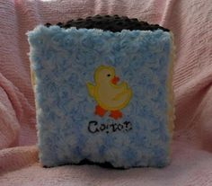 Minky Duck Storage Block by BunnyInAteacup on Etsy, $13.00
