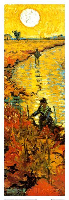 The Red Vineyard at Arles, c.1888 (detail) Art Print at AllPosters.com
