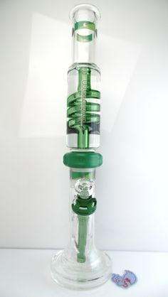Illadelph - Hybrid Base Detachable Coil Water Pipe with Green Label Water Pipes, Bongs, Cannabis, Label, Glass, Green, Drinkware, Pipes, Ganja