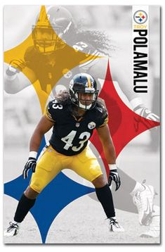 e0d9307a97a Will always be our tazmanian devil  4.5 - Pittsburgh Steelers Troy Polamalu  Fridge Magnet Size 2.5