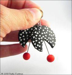 Polymer clay earrings by Daoine.