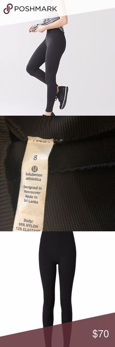 Lululemon Flow & Go Tight Black Like New Size 6 We designed these no-fuss studio pants to contour your body and fit like a second skin so you can flow effortlessly from Power to Yin. Fabric is four-way stretch Gently used with no pilling. In like new shape. Size 6 lululemon athletica Pants Leggings