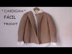 Cómo tejer una chaqueta Raglan [Top Down] en dos agujas PARTE I - YouTube Baby Knitting Patterns, Baby Cardigan Knitting Pattern Free, Tunisian Crochet Stitches, Knit Crochet, Toddler Cardigan, Baby Coat, Knitting Videos, Kids Fashion, Fashion Design
