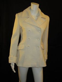 http://stores.ebay.com/stylishlyfrugalclothingcompany Small $32.00 interview collection Moda International pea coat.