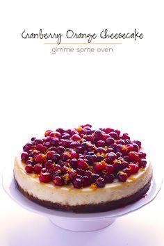 Cranberry Orange Cheesecake Recipe | gimmesomeoven.com