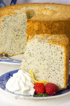 Chiffon Poppy Seed Cake - Art and the Kitchen- my Mom's recipe for Chiffon Poppy Seed Cake is amazing, so light and fluffy.