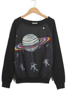 Sweat-shirt à imprimé astronaute EUR€16.40