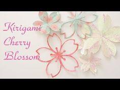 折り紙で簡単!桜の切り紙2種 - Kirigami Cherry Blossom - YouTube