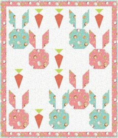 Bunny and Carrot Baby Quilt Pattern via Craftsy