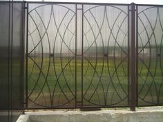 Забор из поликарбоната #2