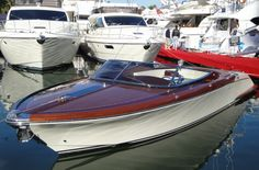 #Riva runabout Riva Yachts, Riva Boat, Classic Wooden Boats, Vintage Boats, Wood Boats, Nautical Design, Source Of Inspiration, Surfboard, Cool Stuff