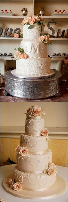 vintage elegant wedding cake #weddings #weddingcakes #cakes #rosesandrings #vintageweddings #weddingcakeselegant #weddingcakesvintage