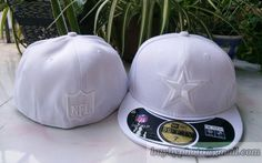 Dallas #Cowboys White Embroidery #59fifty Fitted hats
