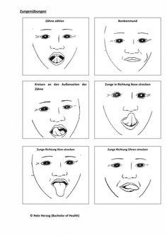 Myofunktionelle Therapie: Zungenübungen Dental Hygiene School, Dental Humor, Oral Motor Activities, Language Activities, Aphasia Therapy, Speech Therapy, Learning Sites, Learning Tools, Speech Language Pathology