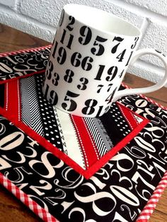 Mug Rug--love this; it's got real class, in my opinion!
