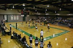 Mean Green Volleyball gym located near  the soccer fields in the Mean Green Village