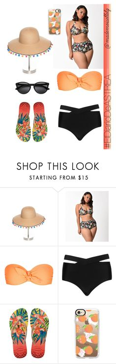 """""""Good morning"""" by madmuasel21 on Polyvore featuring moda, Collection XIIX, Esther Williams, Heidi Klein, Cactus, Havaianas, Casetify, ElDiarioDeASTREA y mademoisellelg"""