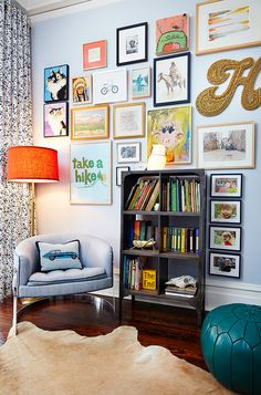 fun gallery wall | Amie Corley Interiors