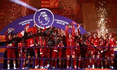 Liverpool title celebrations LIVE as Reds lift Premier League trophy Liverpool Premier League, Salah Liverpool, Liverpool Players, Liverpool Fans, Liverpool Football Club, Liverpool Anfield, Bayern München Champions League, Premier League Champions, September