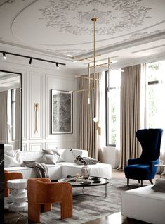 The best of Luxury Interior Architecture Projects Before starting your next interior design, project discover, with Crete Luxury, the best architecture inspiration. Neoclassical Interior, Room Design, House Interior, Living Room Decor, Luxury Living Room, Interior Design Living Room, Luxury Interior, Parisian Interior, Room Interior