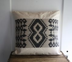 handmade wool pillow cover by littlebyrdvintage on Etsy, $44.00
