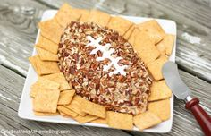 Make a cheese ball shaped like a football and it's instantly more festive. This cheese ball recipe is one I've been using for years and is a...