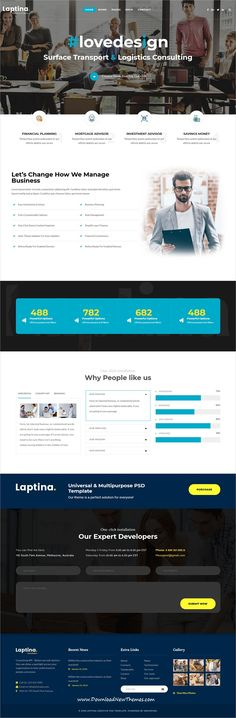 Laptina is clean and modern design responsive multipurpose bootstrap HTML5 #template for creative #studio website with 21+ niche homepage layouts, 100+ elements and 16+ header styles to live preview & download click on Visit  #web #developer