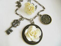 Flower necklace, jewelry set, amaziiiiing