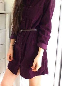 Kup mój przedmiot na #vintedpl http://www.vinted.pl/damska-odziez/krotkie-sukienki/14340110-bordowa-sukienka-koszula-zapinana-s