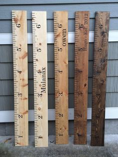 Ruler Growth Chart by beansigns on Etsy - would it fit with the kitchen design? Would like it to use as a growth chart for kids.