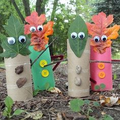 Leaf people - Autumn (Fall) ideas, cute little guys ;)