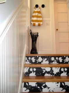 wallpaper on staircase