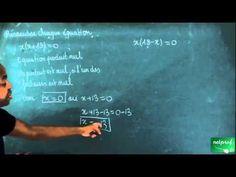 283 / Equations - Equations produit nul / Résoudre des équations produit nul (3) - YouTube