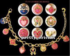 Sailor Moon Sailormoon Charm Bracelet Cosplay 20th NO pointer mirror wand figure