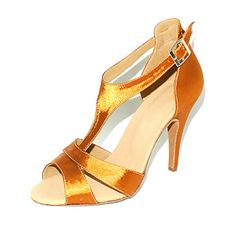 Customized Women's Satin T-Strap Latin / Ballroom Dance Shoes (More Colors) – GBP £ 27.83