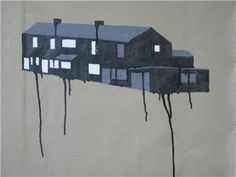 """2 bedroomed terraced houses, 2010 © Jonathan Powell. This artist's work will be featured in """"Barnraisers and Bunkers"""" exhibition at g39, Cardiff as part of Diffusion 2013. (8 May - 29 June)."""