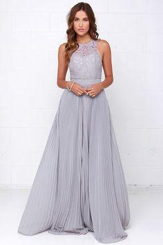 Gorgeous Grey Dress - Lace Dress - Maxi Dress - Backless Dress - $75.00